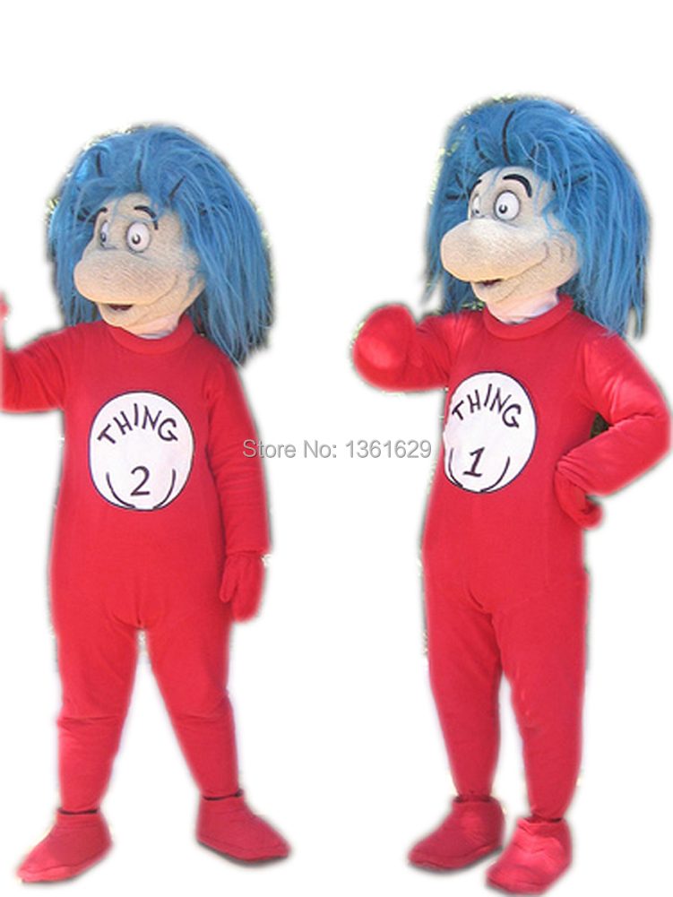 Cartoon Characters Costumes : Funny thing mascot costume christmas fur