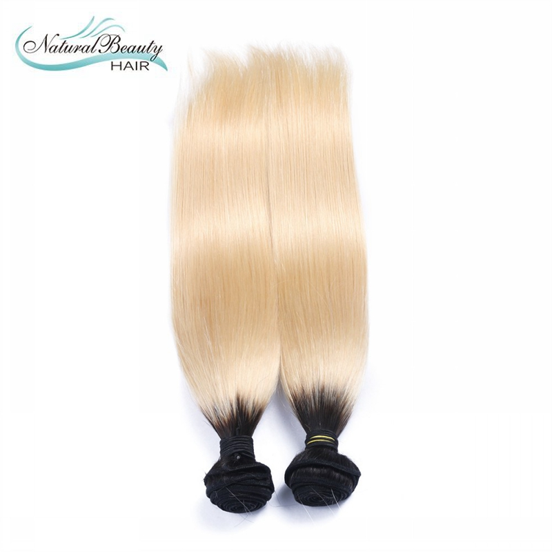 Ombre 1b/613 Straight Human hair Virgin human hair 2 pcs a lot 100% Brazilian human hair best price selling