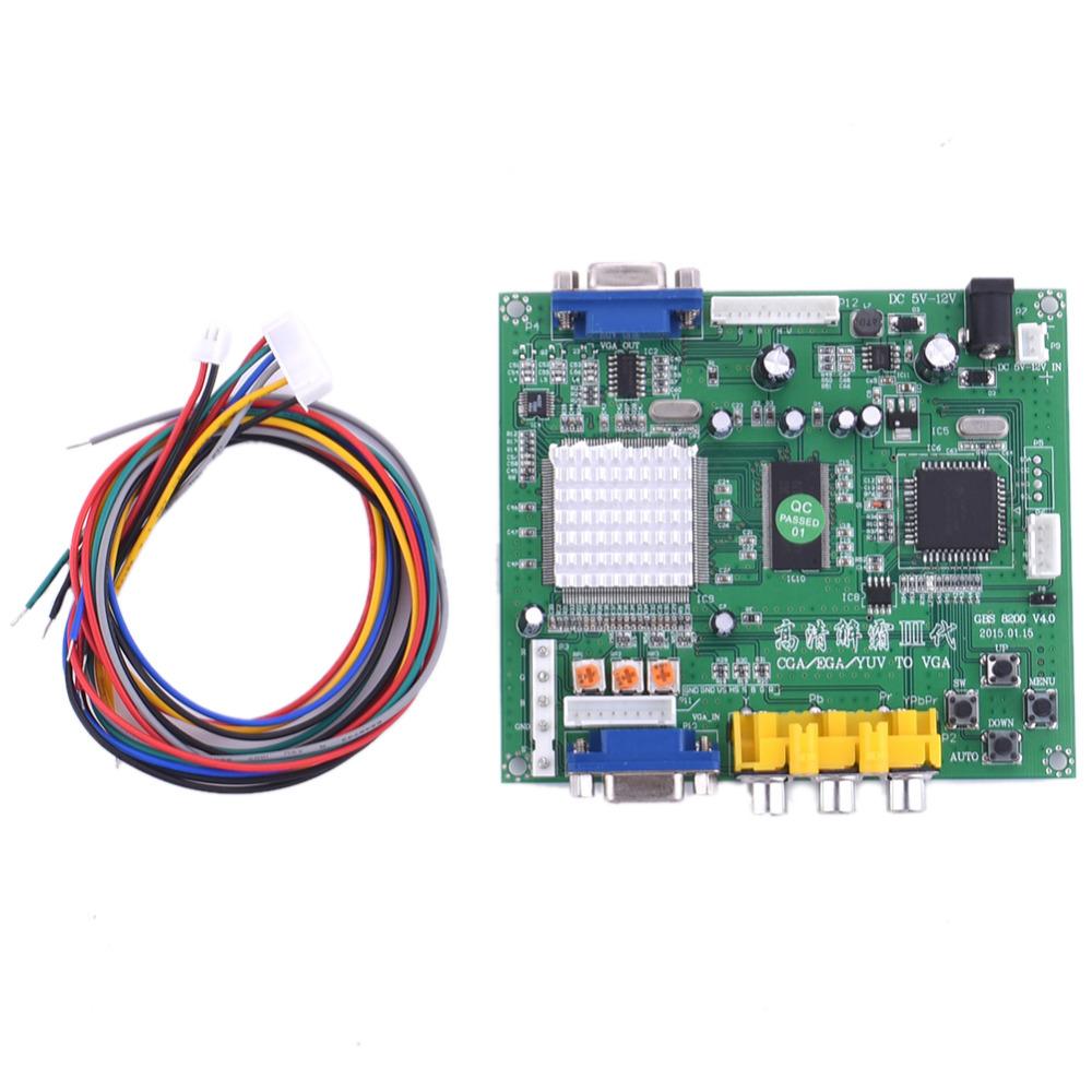 2017 New High Definition Arcade Game CGA/EGA/RGBS/RGBHV/YUV/YPBPR to VGA HD Video converter board GBS-8200 standard VGA output(China (Mainland))