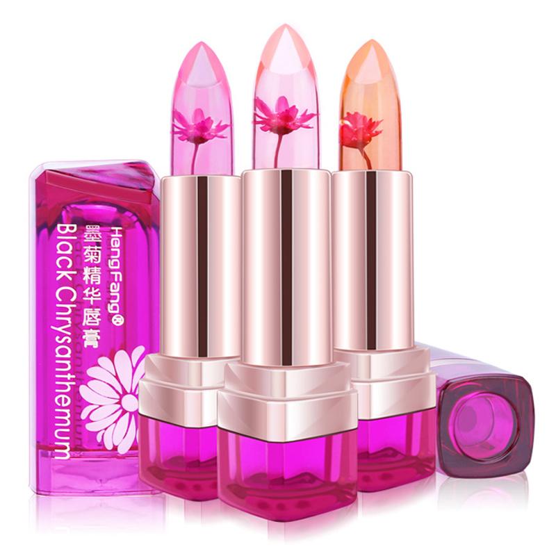Brand Lip Makeup Waterproof Chrysanthemum Lipstick Magic Color Temperature Change Bright Moisturizer Transparent Jelly Lip Balm