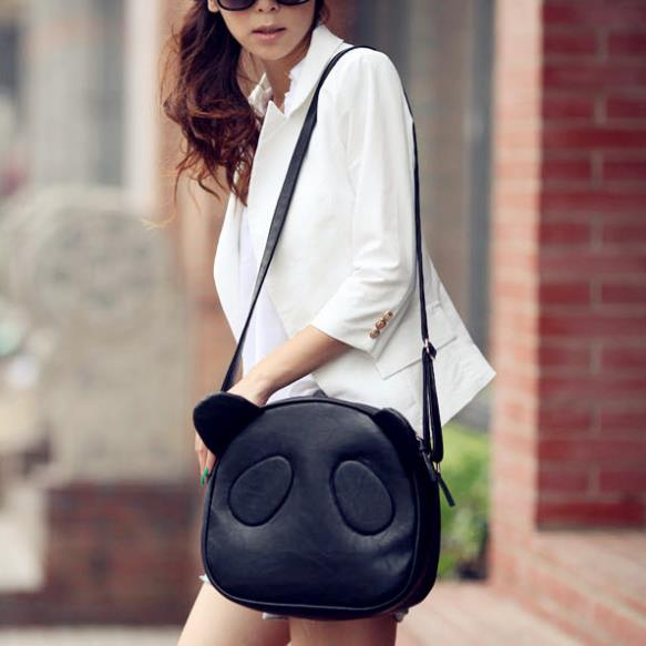 2016 Fashion Girl Student Cute Panda Bag Single Shoulder Crossbody bag Messager Tote New #L09238(China (Mainland))