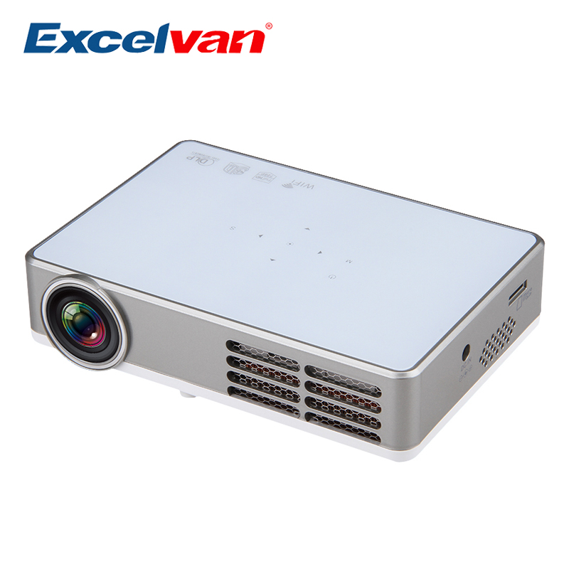 Buy excelvan led9 android 4 4 dlp mini for Best wireless mini projector
