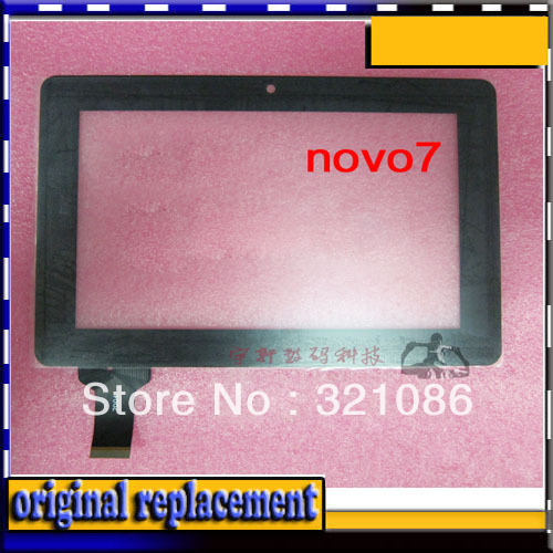 2PCS/LOT Digitizer Touch Screen Glass FOR Capacitive Ainol Novo7 Novo 7 Advanced 2 ii / 7'' Tablet PC MID(China (Mainland))