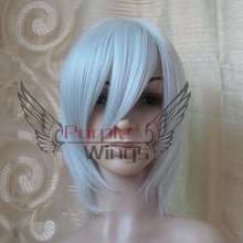 SIiver white Short Hair Cosplay Party wig Costumes Performance Wigs Freeshipping