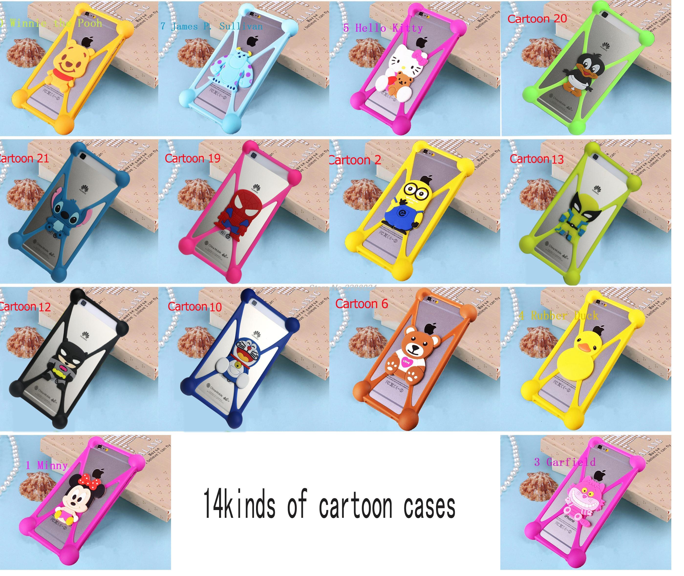 3D Cartoon Hello Kitty Stitch Minnie Minions Sully Silicone Case For Prestigio Muze D3 PSP3530 DUO 3530 Duo(China (Mainland))