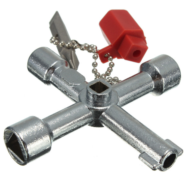 5 In 1 Cross Switch Key Wrench With Accessories Universal Square Triangle Train Electrical Cupboard Box