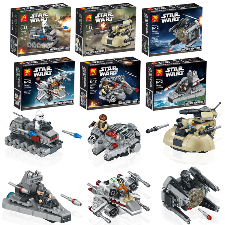 Гаджет  6pcs/set 78085 Star Wars Warships Spaceship Clone Wars Star Wars troopers Ships Model Building Blocks Compatible with Lego toys None Игрушки и Хобби