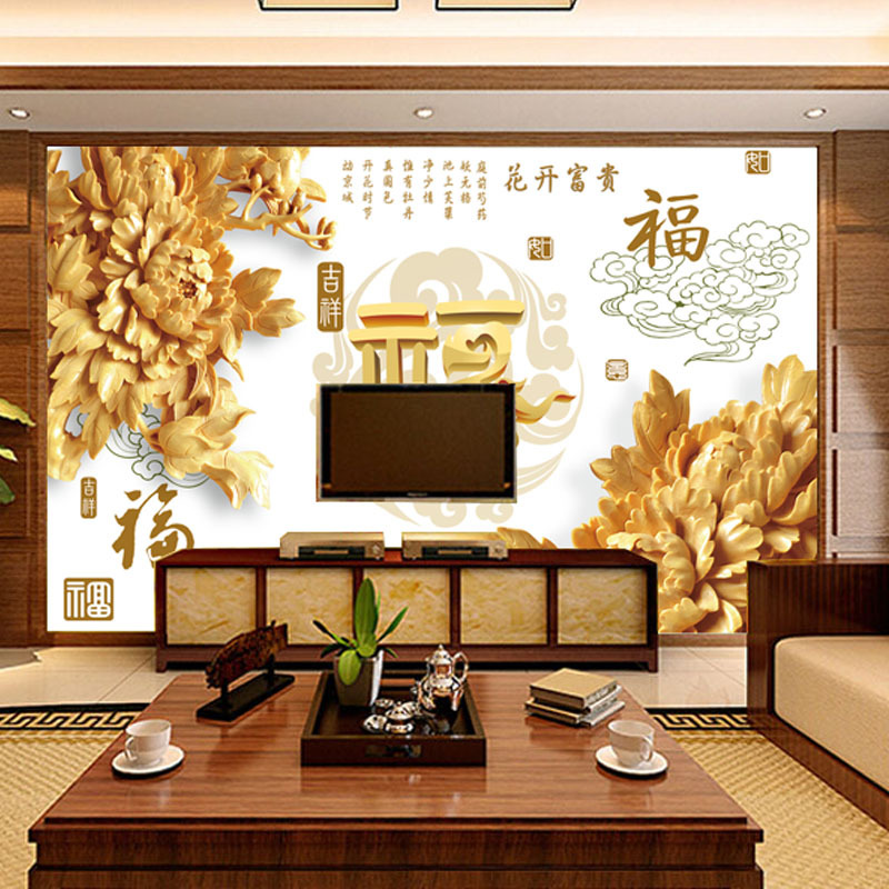 Online buy wholesale material chinese silk wallpaper from for Chinese wall mural