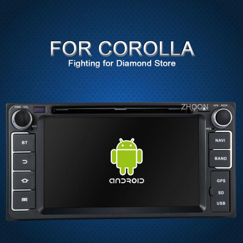 Toyota HILUX Avensis RAV4 TOYOTA HIGHLANDER android car dvd radio gps player in dash universal dvd 2 double din toyota universal(China (Mainland))