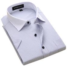 Summer Plus size 6XL Men Business Short Sleeve Slim fit shirts Quality Chinese Work Shirts Men Formal Shirt Social Casual-shirts