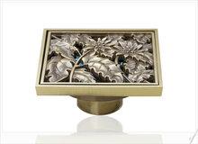 e-pak Best Price Beautiful L5402 Antique Brass Gravity Flushing Construction & Real Estate Bathroom Floor Drain holder