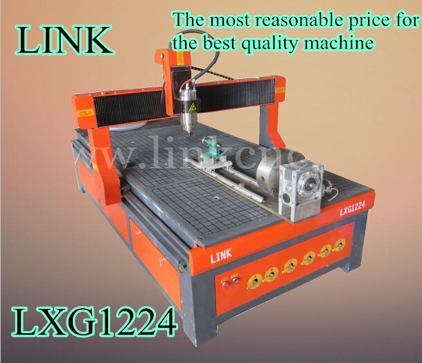 New designed + best brand parts for cnc router/LXG1224 LINK 5kw cnc router 1224 with vacuum table(China (Mainland))