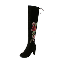 Women Winter 허벅지 (High) 저 (부츠 Suede 가죽 (High) 저 (힐 Lace up 암 넘 다 니 Boots 패션 Plus Size Shoes drop Shipping(China)
