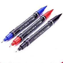 Free shipping 3color Marker pens good Waterproof ink Thin Nib+Crude nib Black New Portable finecolour permanent copic marker pen(China (Mainland))