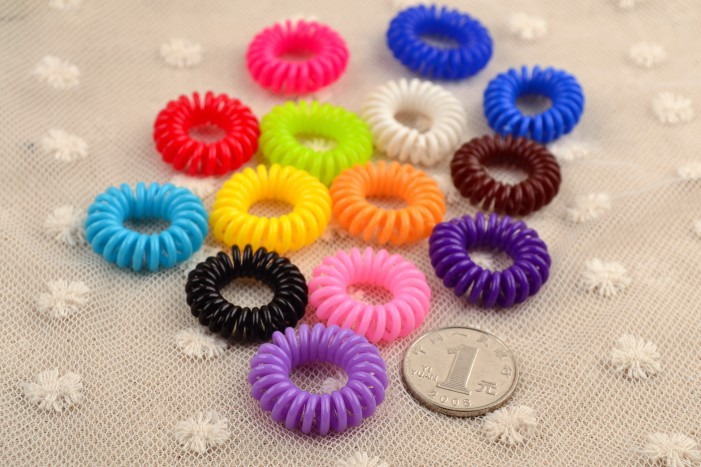 Female hair accessory child cord string hair rubber band hair rope headband accessories random color 10pcs/lots(China (Mainland))