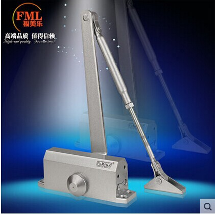 New Hardware Accessories Metal 90 degrees position Hydraulic Positioning control Cushioning Automatic Door closer Free shipping(China (Mainland))