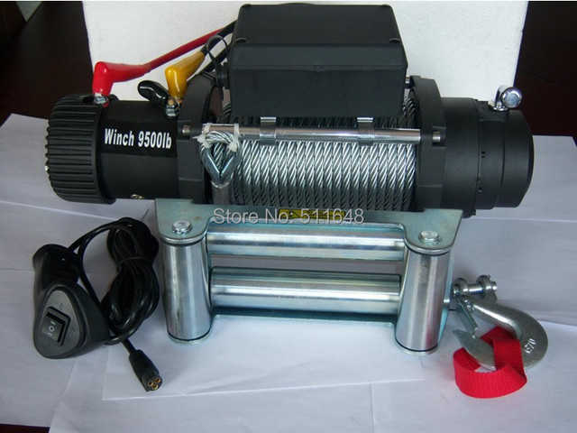 Free Shipping 12V 9500LB 4WD Electric Winch,Truck Winch