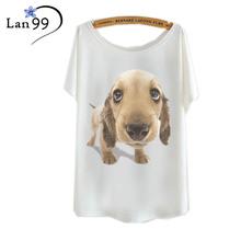 Dog Print Women Tshirt Cotton Casual Funny Shirt White Top Tees Big Size t shirt for women  t-shirt tee shirts plus size t shirt