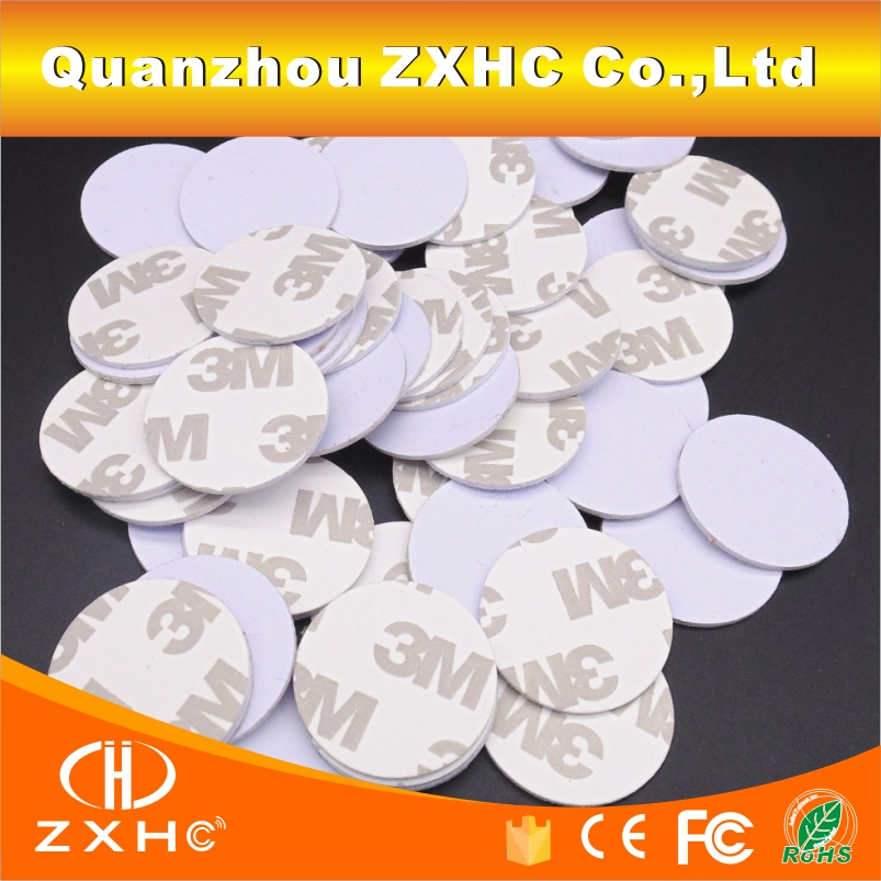 (10PCS/LOT) TK4100(EM4100) RFID 125khz 3M Stickers Coins 25mm Smart Tags Read-only Access Control Cards()