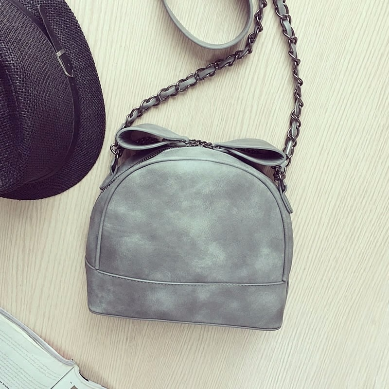 Classic Retro Mini Chain Bag Sweet Style Ladylike Small Shoulder Bag Women Trendy Shell Bag PU Leather Simple Crossbody Bag