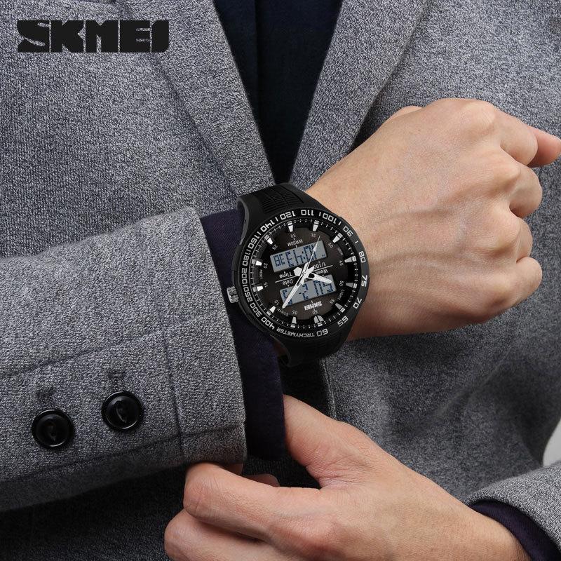 Fashion Black Army Green SKMEI Digital Analog Quartz Waterproof Military Wrist Watches Men Boy Sports Watches