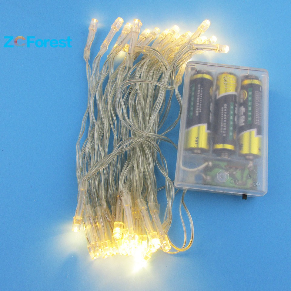 Battery Operated String Led Lights 4m 3 Colors Christmas Lights Outdoor Starry Led Fairy Lights