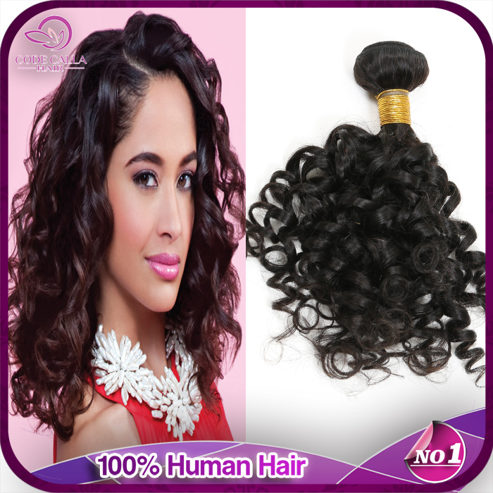 Brazilian Virgin Jerry Curls  6a Spiral Jerry  Curly  Virgin Hair  3pcs  Unprocessed Virgin Remy Hair  Domestic Delivery  WSC101(China (Mainland))