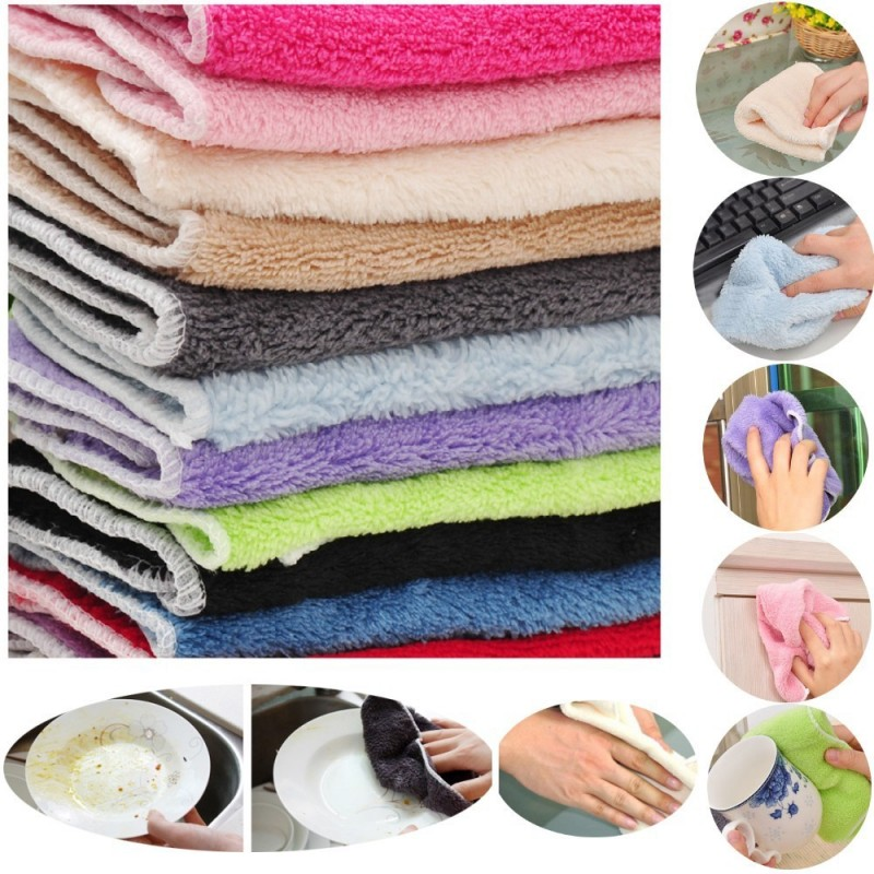 20 pcs Wood microfiber Multipurpose Towel Rag Kitchen Bowl Dish Wash cloth Dishcloth Glass Cleaner(China (Mainland))