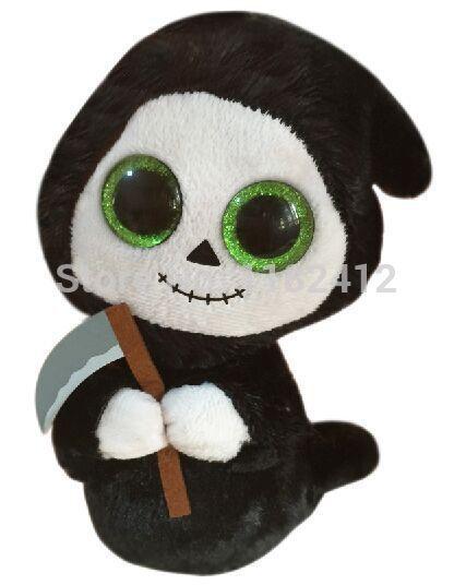 New Original TY Beanie Boos Buddies Halloween Ghost 6'' 15cm Ty Plush Animals Big Eyes Cute Soft Toys for Children Kids Gifts(China (Mainland))