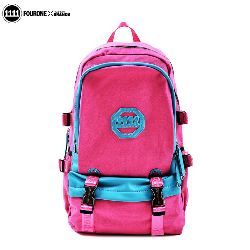 Fourone2014 spring color block backpack female canvas large capacity computer travel bag 9729 - Volvo Co., Ltd. Shenzhen store