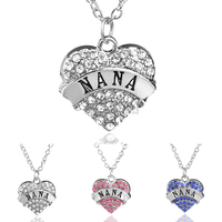 Low Price High Quality Romantic Zinc Alloy Mental Silver Plated Crystal Love Hearts With Letter