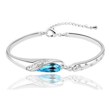 Австрийский хрусталь браслеты и браслеты золото и серебро шарм браслеты для женщин ...