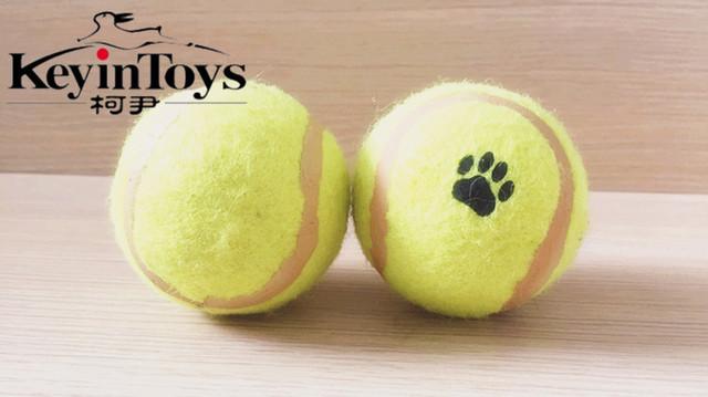 Бесплатная Доставка оптовая pet кошки собаки поставки Pet игрушки собаки игрушки резиновые игрушки Теннис шары кошка пэт торговли играют игрушки