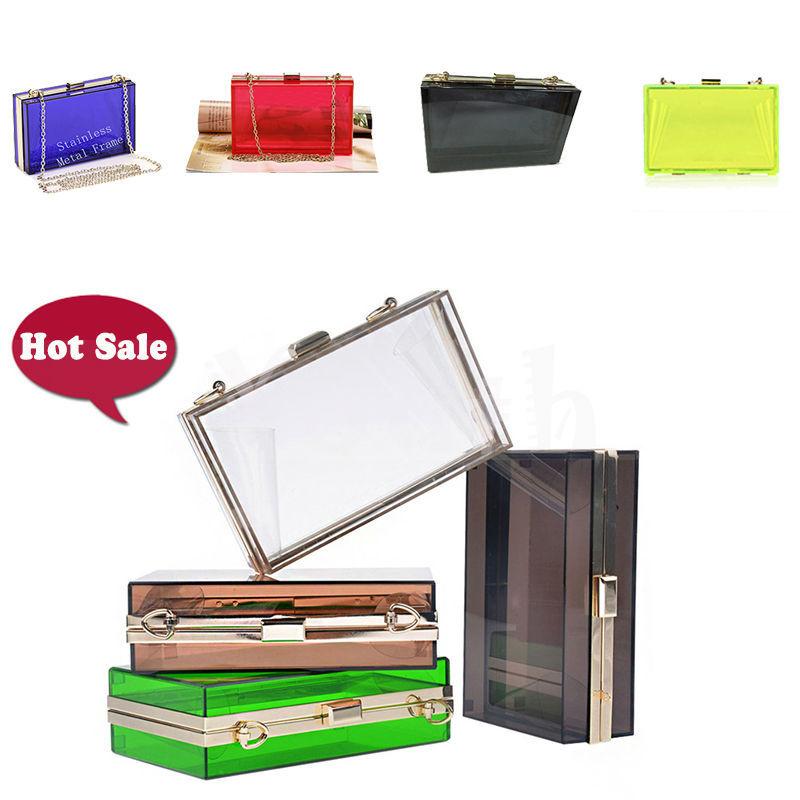 6 Colors Summer Perspex Purse Women Clear Acrylic Evening Bag Transparent Plastic Clutch Real Shot Handbag - DT001 Youth Store., Ltd store