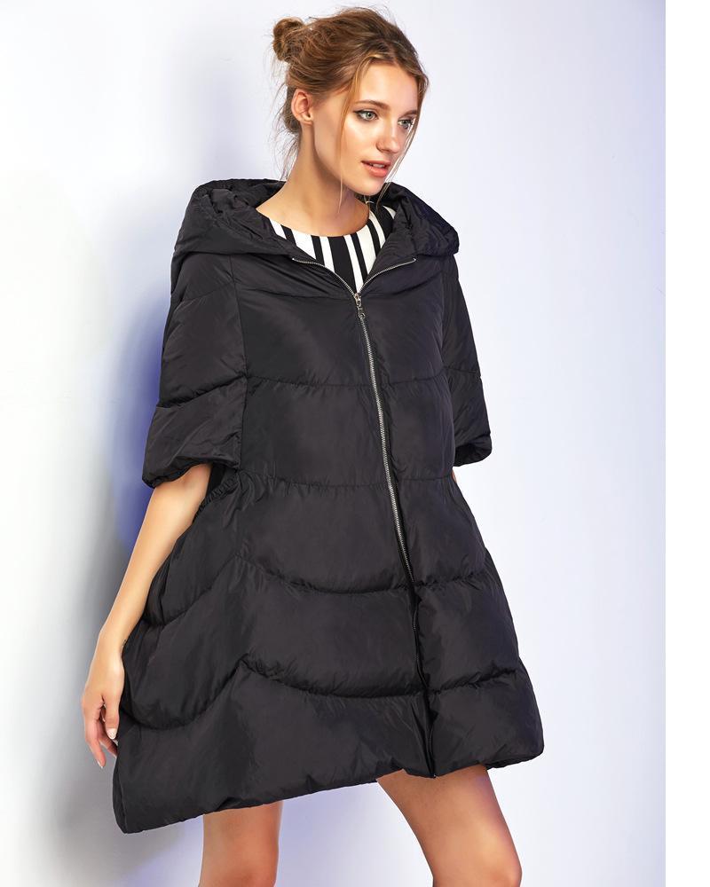 Womens  Ultra Light Skirt Style Mid- sleeve Duck Down Coat Autumn Winter Fashion Lightweight   Long Jackets OuterwearОдежда и ак�е��уары<br><br><br>Aliexpress
