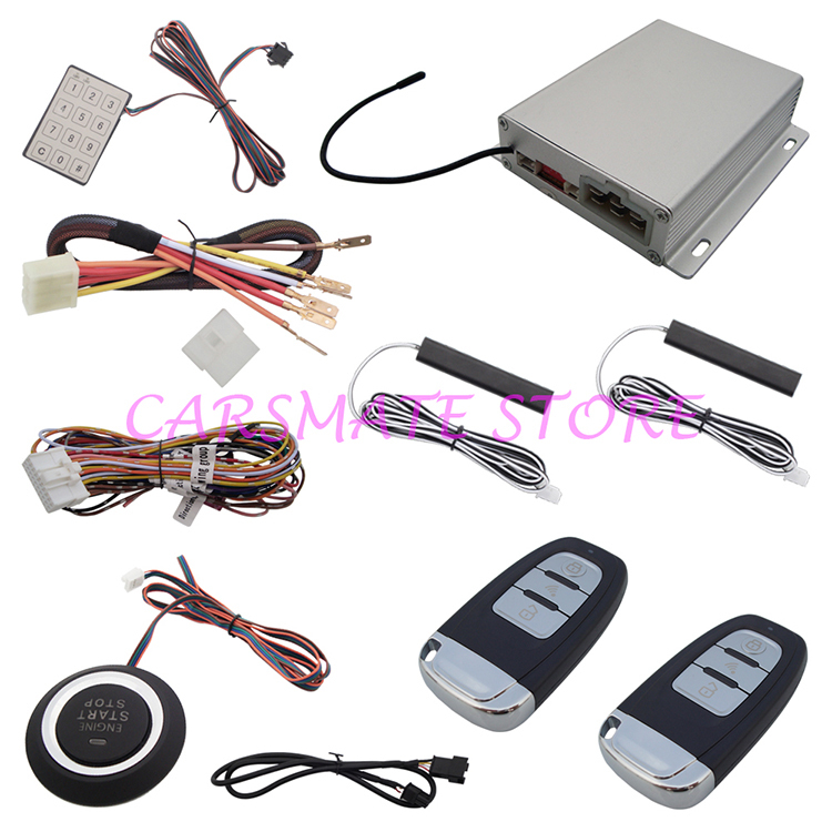 Stock In USA Hot Selling Intelligent PKE Car Alarm System With Engine Start Stop Push Button And Password Keyboard Operation(China (Mainland))