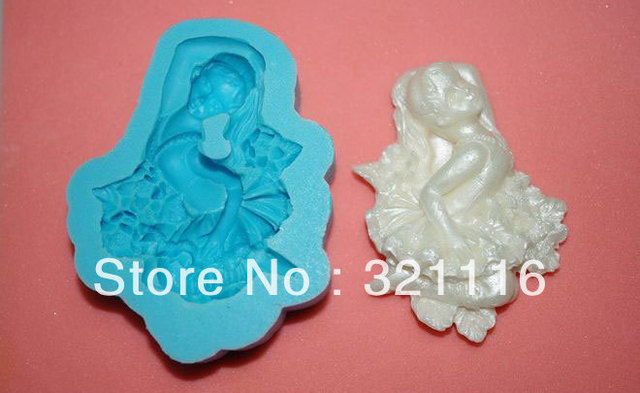 Free Shipping Silicone cake tool,Ballet cutter fondant cake decoration,DAB 3d molds,Cake cutter mold for party,TS39062