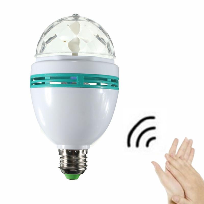 Beautiful Design E27 RGB Voice Auto Rotating Stage Light DJ Disco Crystal 3W LED Ball Bulb Lamp<br><br>Aliexpress