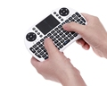 i8 Mini Handheld 2 4G Wireless Keyboard With Touchpad Russian Hebrew Remote Control Air Mouse for