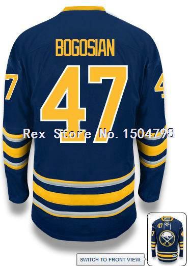 CHEAP Zach Bogosian Jersey Men Buffalo Sabres #47 Ice Hockey Jersey HOME BLUE,Authentic #47 Zach Bogosian Sport Jersey,Size46-56