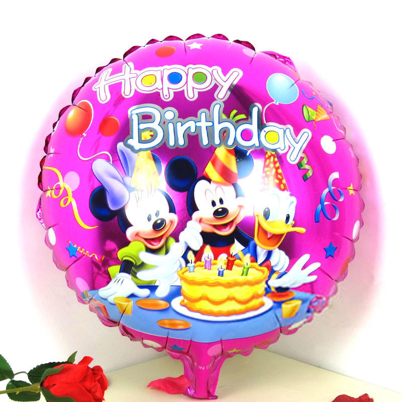 1 18inch Mickey Mouse Prty Foil Balloons New Ballon Party Supplies Minnie Balloon - The Beautiful World store