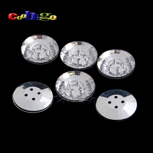 50pcs Pack 28L(18mm) Acrylic Sewing Rhinestone Concave Button For Apparel Bag Accessories #FLN029-28L(06)(China (Mainland))