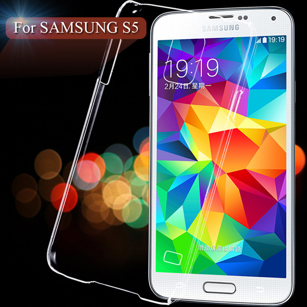 Гаджет  Ultra Thin Smooth Slim Light Hard Back Case For Samsung Galaxy S 5 SV i9600 Transparent Clear Crystal Mobile Phone Cover Shell None Телефоны и Телекоммуникации