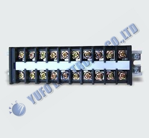 Free Shipping One Lot 1Pcs 600V 20A Guide Rail Type Wire Terminal Connector 10 Positions TD-2010 AK(China (Mainland))