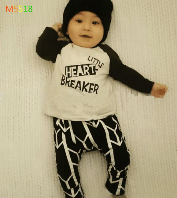 4sets/lot baby girls suit kids children M5518 long sleeve dress + pants heart breaker Girls 0218 sylvia it(China (Mainland))