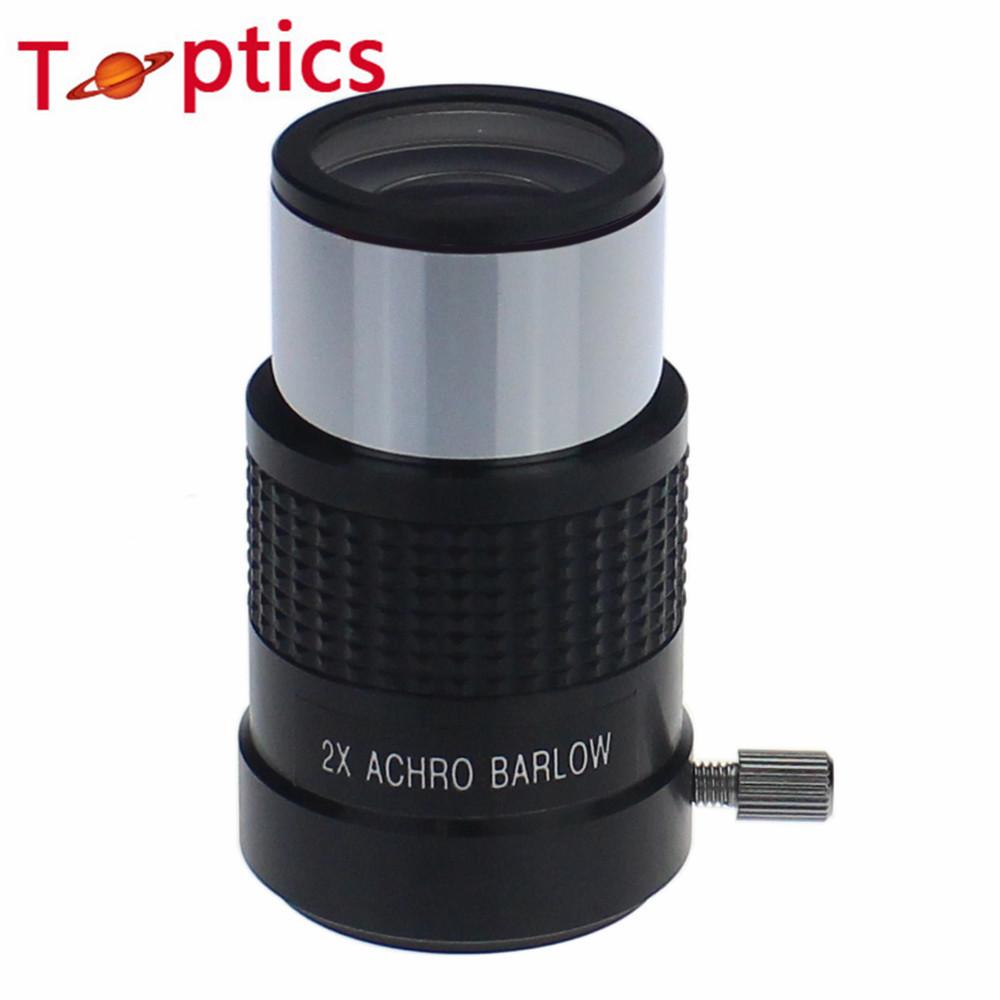 Hot ! Astronomical Telescope lens eyepiece standard 1.25Inch 2X Achro Barlow Lens