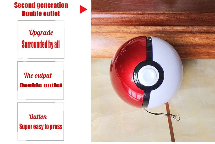 Intelligent ball mobile telephone moves a power source 10000Ah USB Port Power Bank Convenience is carried  Small night light