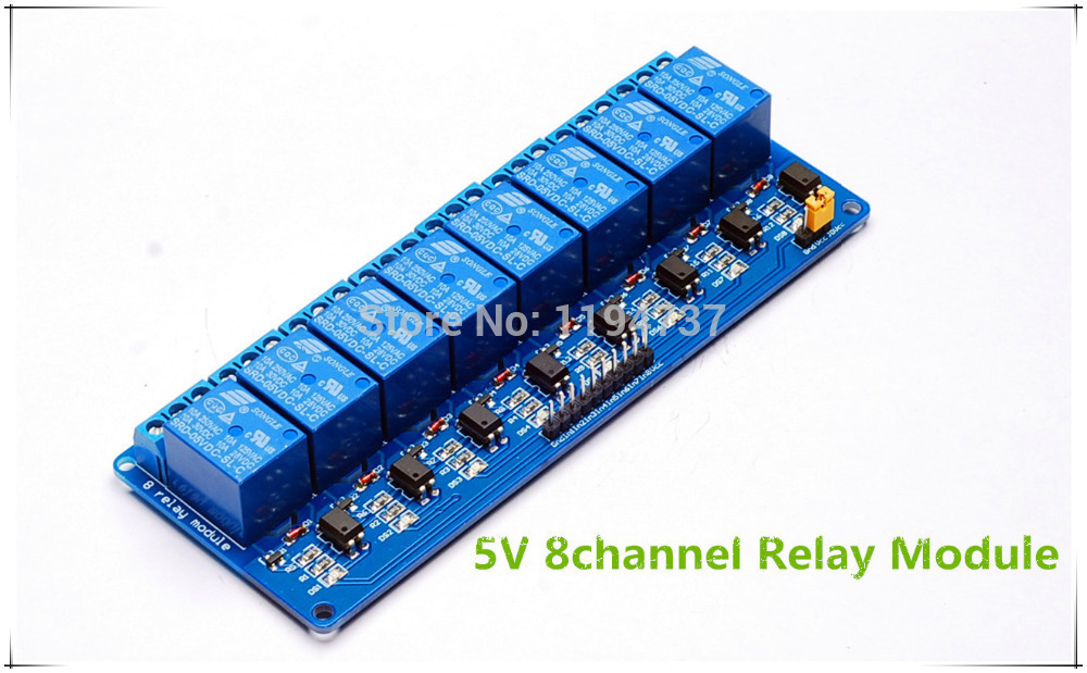 Free Shipping!! 2pcs 8 Channel Relay Module 5V Active Low Board for Arduino PIC AVR MCU DSP NEW(China (Mainland))