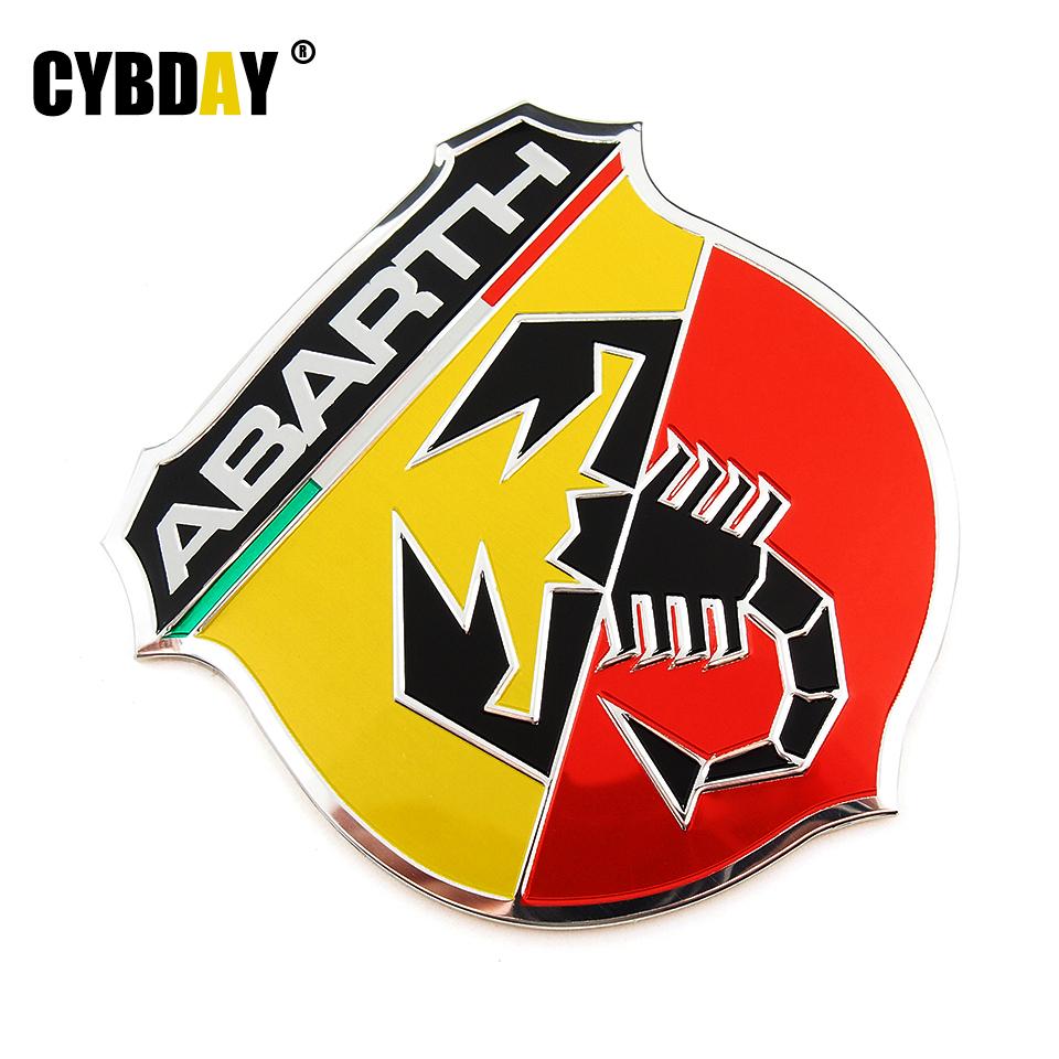 3D 3M Car Abarth Metal Adhesive Badge Emblem logo Decal Sticker Scorpion Fiat Punto 124/125/125/500 Styling - Cyberday Auto Parts Co.,Ltd. store
