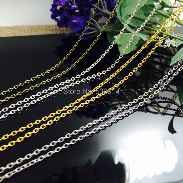 2x3MM 20M/lot (Bronze/Silver/Gold/Nickel Plated) Metal Chains Jewelry O Shape Chain Jewelry Findings Components(China (Mainland))